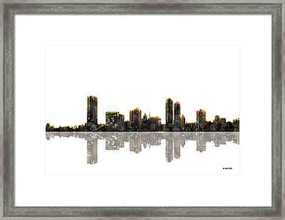 Milwaukee Wisconsin Skyline Framed Print