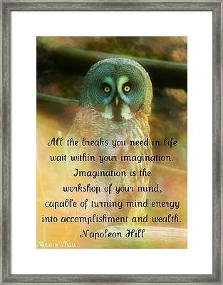 Framed Print featuring the mixed media Mind Energy by Miriam Shaw