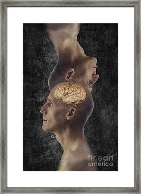 Mind Reading Framed Print by George Mattei
