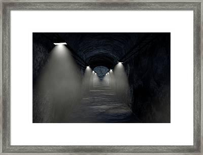 Mine Shaft Framed Print by Allan Swart