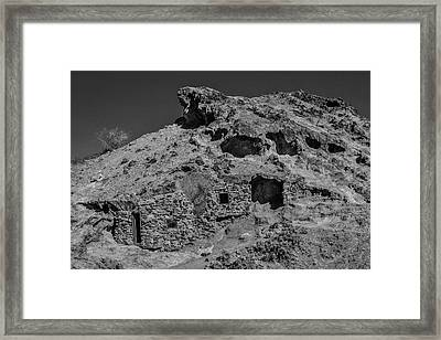 Miners Hut In The Hillside Framed Print by Garry Gay