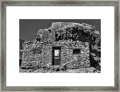Miners Stone Shack Framed Print by Garry Gay