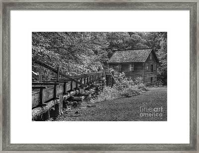 Mingus Mill 3 Mingus Creek Great Smoky Mountains Art Framed Print by Reid Callaway