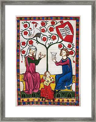 Minnesinger Lieder Framed Print by Granger