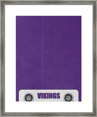 Minnesota Vikings Helmet Art Framed Print