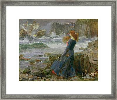 Miranda Framed Print by John William Waterhouse