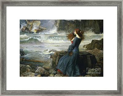 Miranda - The Tempest Framed Print by Art Anthology