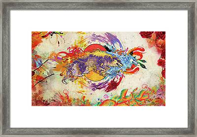 1 Miscellaneous Digital Art Colorful Funky                 Framed Print