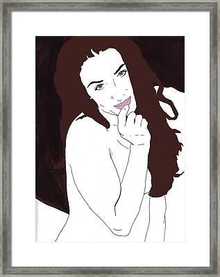 Mischevious Framed Print by Stephen Panoushek