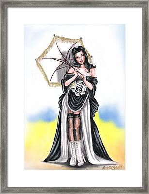 Miss Flirt Framed Print by Scarlett Royal