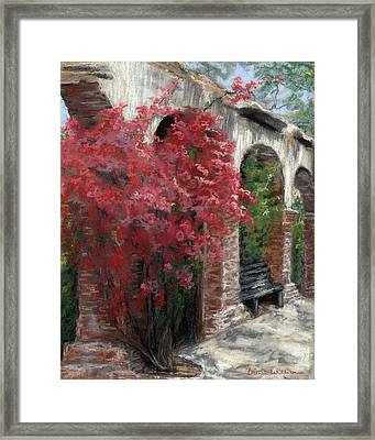 Mission Arches Framed Print by Brenda Williams