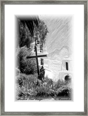 Mission San Diego Framed Print