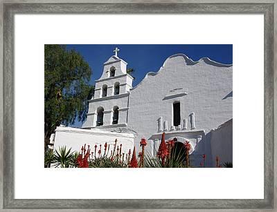 Mission San Diego Framed Print by Jeff Lowe