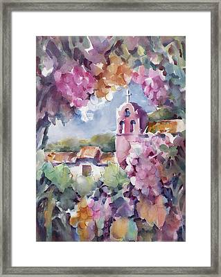 Mission Vineyard Framed Print by Joan  Jones
