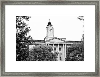 Mississippi College - Nelson Hall Closeup Bw Framed Print