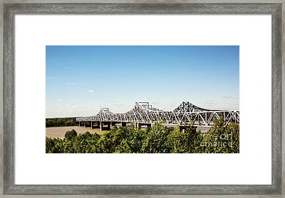 Mississippi River Bridge - Vicksburg Framed Print