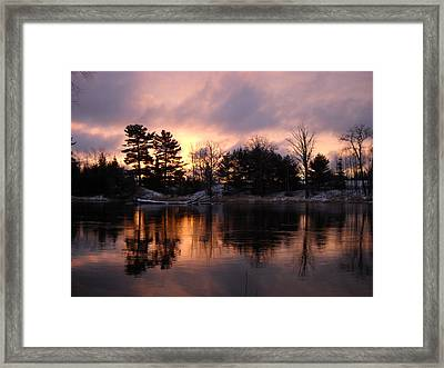 Mississippi River Dawn Light Framed Print