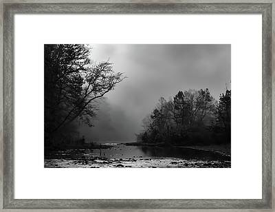 Framed Print featuring the photograph Mist On The River by James Barber