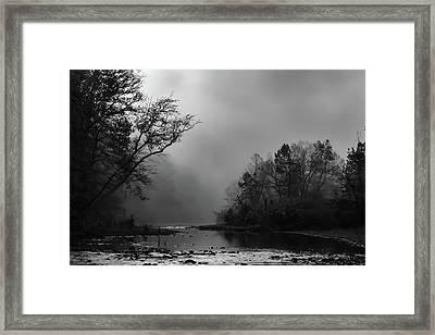 Mist On The River Framed Print by James Barber