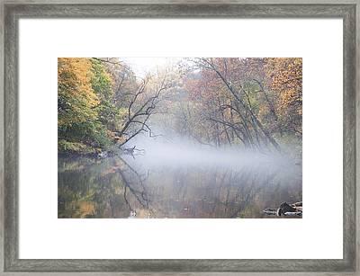Mist On The Wissahickon Framed Print