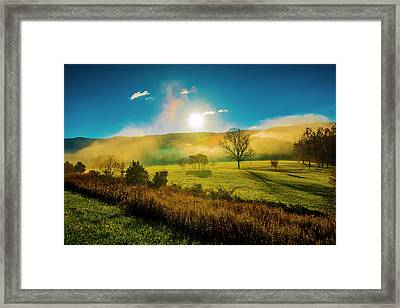 Framed Print featuring the photograph Mist Rising by Steven Ainsworth