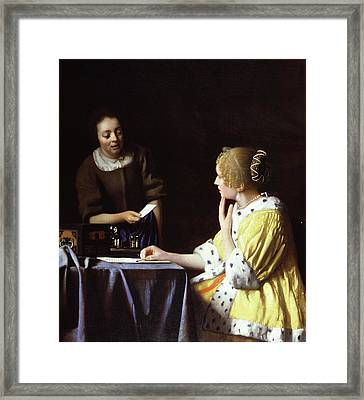 Mistress And Maid Framed Print