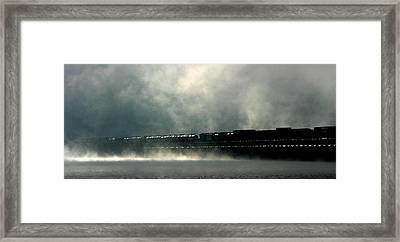 Misty Crossing Framed Print by Marie-Dominique Verdier