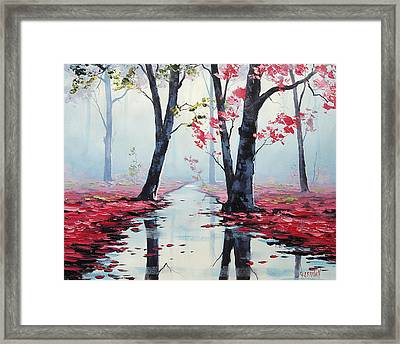 Misty Pink Framed Print by Graham Gercken