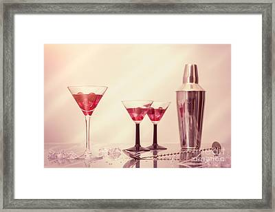 Mixing Cocktails Framed Print by Amanda Elwell