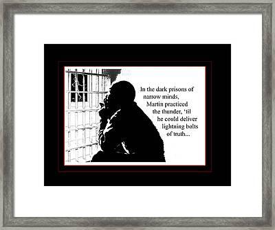 Mlk In Jail Framed Print by Richard Gordon