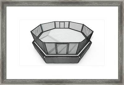 Mma Cage Framed Print by Allan Swart