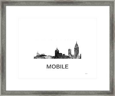 Mobile Alabama Skyline Framed Print