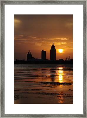 Mobile At Sunset Framed Print by Phillip Judy