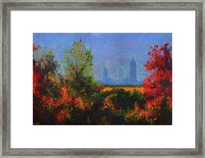 Mobile Skyline From Felix's Framed Print by Vernon Reinike