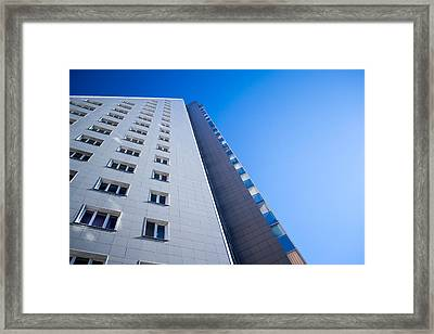 Framed Print featuring the photograph Modern Apartment Block by John Williams