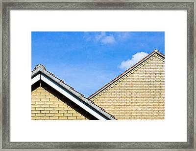 Modern Buildings Framed Print by Tom Gowanlock