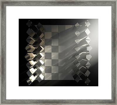 Modern Chess Set  Framed Print