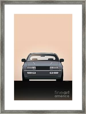 Modern Euro Icons Series Vw Corrado Vr6 Framed Print