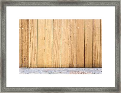 Modern Fence Framed Print by Tom Gowanlock