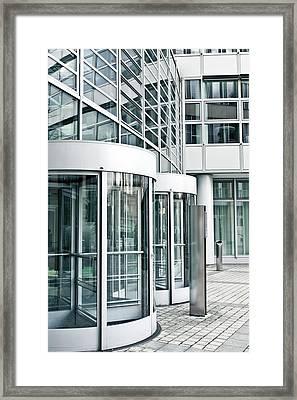 Modern Office Building Framed Print by Tom Gowanlock