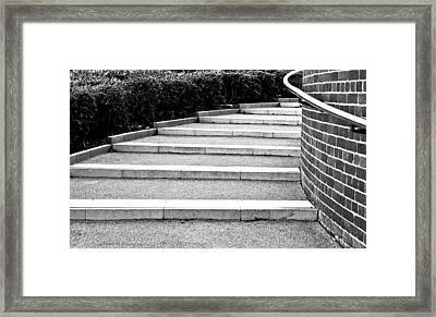Modern Stone Steps Framed Print by Tom Gowanlock