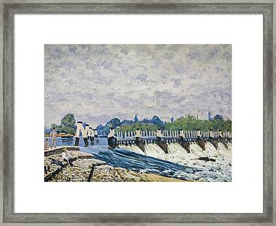 Molesey Weir-hampton Court Framed Print