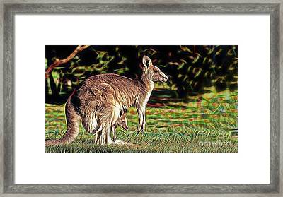 Mom And Child Framed Print