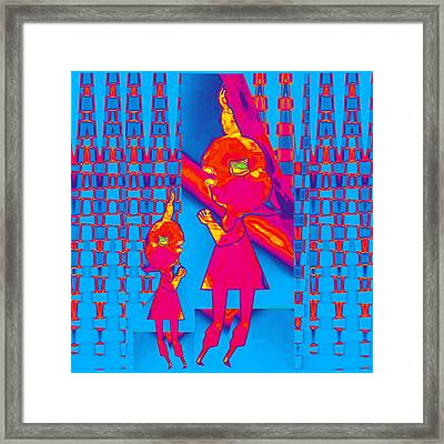 Mommy I Have A Secret  Flower Girl To Flower Mom.  Flower Abstract Animation Art By Navin Joshi  On  Framed Print by Navin Joshi