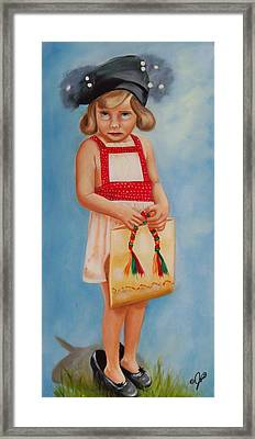 Mommys Shoes Framed Print
