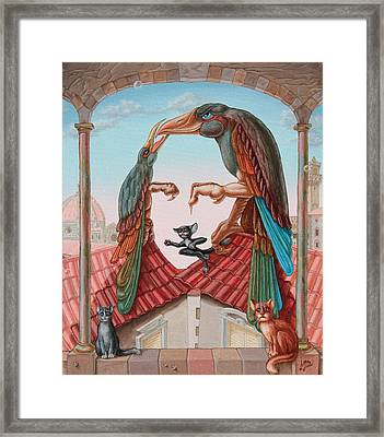Mona Lisa. Air Framed Print