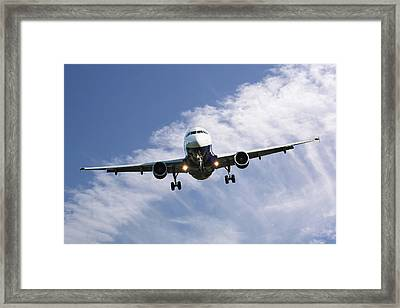 Monarch Airlines Airbus A320-214 Framed Print