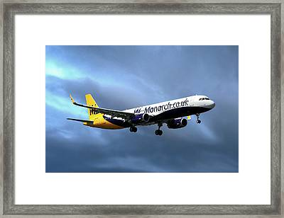 Monarch Airlines Airbus A321-231 Framed Print