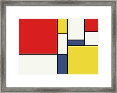 Mondrian Inspired Framed Print