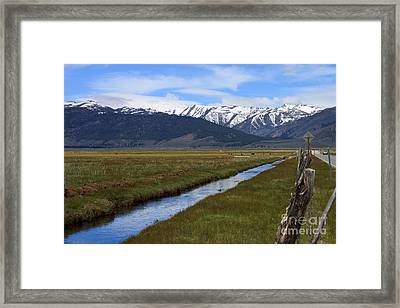 Mono County Nevada Framed Print